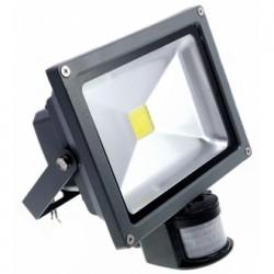 Reflektor 30W czujnik, światło białe ciepłe